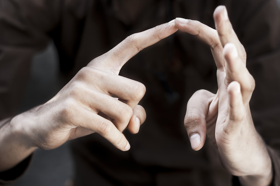 Hands using sign language