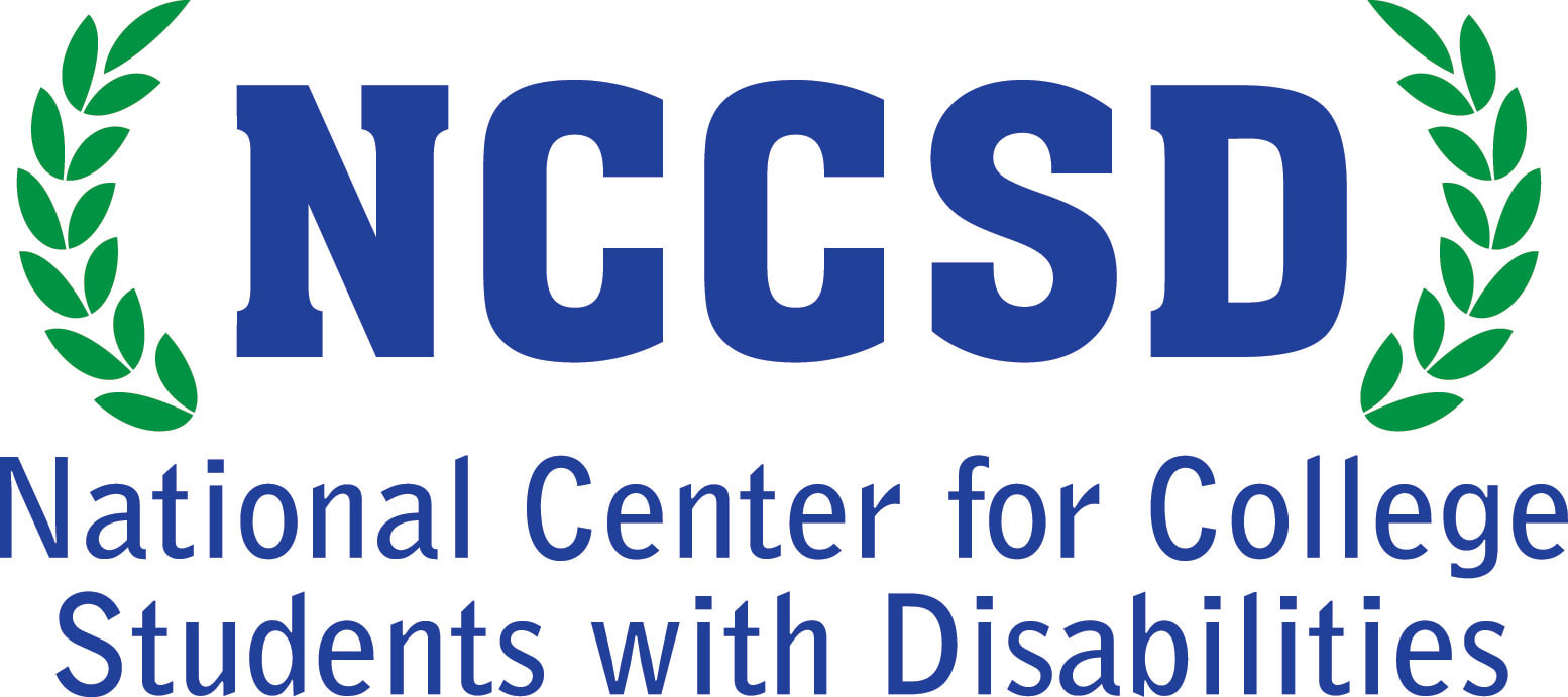 Logo for NCCSD - blue lettering surrounded by green laurel leaves